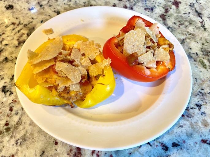 Buffalo Chicken-Stuffed Peppers